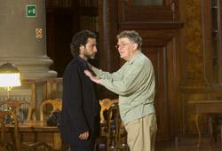 Raz Degan con il regista Ermanno Olmi