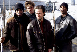 André Benjamin, Josh Cash, Mark Wahlberg, Tyrese Gibson in Four Brothers