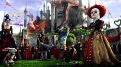 Helena Bonham Carter in una scena di Alice in Wonderland