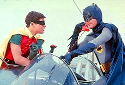 Burt Ward e Adam West nel telefilm di Batman