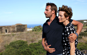 Matthias Schoenaerts e Tilda Swinton in A Bigger Splash