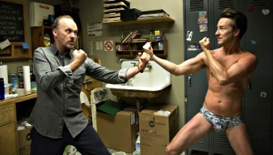 Michael Keaton e Edward Norton in Birdman