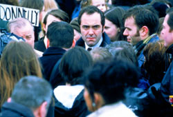 James Nesbitt in una scena di Bloody Sunday