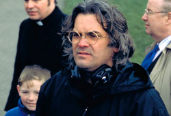 Il regista Paul Greengrass sul set di Bloody Sunday
