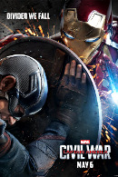 La locandina di Captain America: Civil War