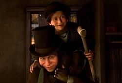Gary Oldman e Ryan Ochoa in A Christmas Carol