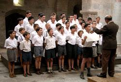 Una scena di Les Choristes - I Ragazzi del Coro