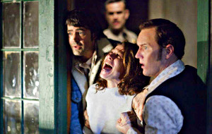 Ron Llivingston, Lily Taylor e Patrick Wilson in L'evocazione - The Conjuring