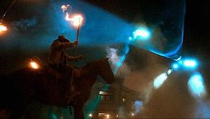 Una scena di Cowboys & Aliens