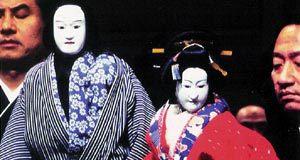 Due marionette Bunraku in una scena di Dolls