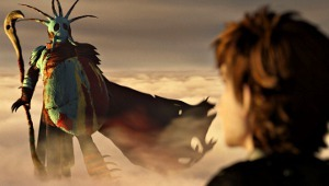 Una scena di Dragon Trainer 2
