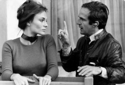 Jacqueline Bisset e François Truffaut in Effetto notte
