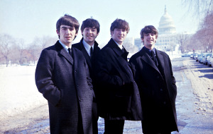 George Harrison, Paul McCartney, John Lennon e Ringo Starr in The Beatles: Eight Days a Week