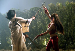 Will Yun Lee e Jennifer Garner in Elektra