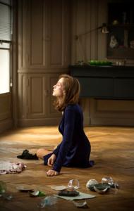 Isabelle Huppert in una scena di Elle