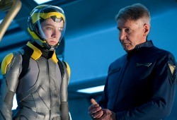 Asa Butterfield e Harrison Ford in Ender's Game