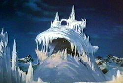 Il Picco di Ghiaccio in una scena di Fire and Ice - Fuoco e Ghiaccio