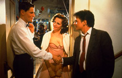 Crispin Glover, Lea Thompson e Michael J. Fox in Ritorno al futuro