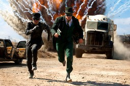 John Chou e Seth Rogen in una scena di The Green Hornet