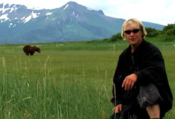 Timothy Treadwell in una scena di Grizzly Man