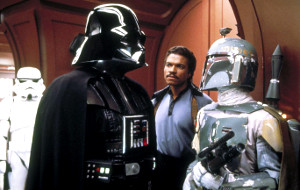 David Prowse, Billy Dee Williams e Jeremy Bulloch in una scena di Guerre Stellari - L'Impero colpisce ancora