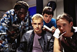 Fisher Stevens, Johnny Lee Miller, Angelina Jolie e Matthew Lillard in Hackers