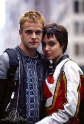 Johnny Lee Miller e Angelina Jolie in Hackers