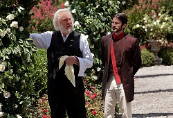 Donald Sutherland e Wes Bentley in Hunger Games