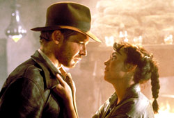 Harrison Ford e Karen Allen in I predatori dell'arca perduta