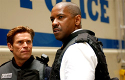 Willem Dafoe e Denzel Washington in Inside Man