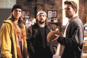 Jason Mewes, Kevin Smith e Ben Affleck in Jay & Silent Bob ...fermate Hollywood
