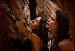Lynn Collins e Taylor Kitsch in John Carter