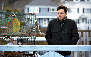 Casey Affleck in una scena di Manchester by the Sea