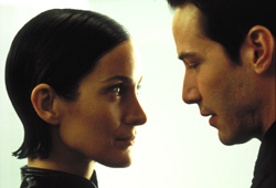 Carrie-Anne Moss e Keanu Reeves