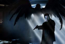 Mark Wahlberg in una scena di Max Payne