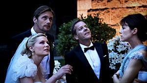 Kirsten Dunst, Alexander Skarsgård, Kiefer Sutherland e Charlotte Gainsbourg in Melancholia