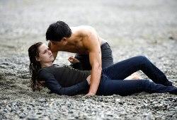 Kristen Stewart e Taylor Lautner in New Moon