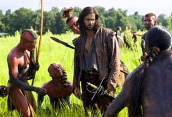 Colin Farrell in una scena di The New World