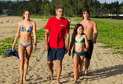 Shailene Woodley, George Clooney, Amara Miller e Nick Krause