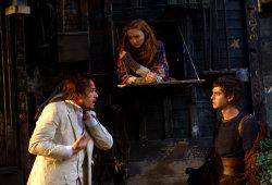 Heath Ledger, Lily Cole e Andrew Garfield in Parnassus - L'uomo che voleva ingannare il Diavolo