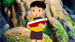 Sosuke in Ponyo sulla scogliera
