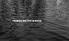 La title card di Promises Written in Water
