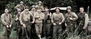 Foto di gruppo per i protagonisti di Salvate il soldato Ryan