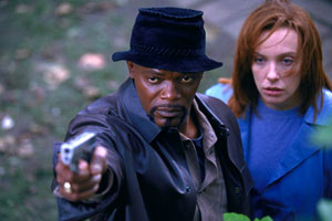 Samuel L. Jackson e Toni Collette in Shaft