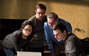 Melissa Leo, Joseph Gordon-Levitt, Tom Wilkinson e Zachary Quinto in Snowden