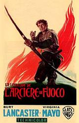 """La locandina italiana di """"La leggenda dell'arciere di fuoco"""""""