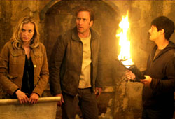 Diane Kruger, Nicolas Cage e Justin Bartha in Il mistero dei Templari