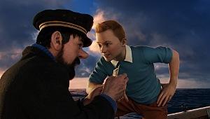 Andy Serkis e Jamie Bell in una scena di Le avventure di Tintin - Il segreto dell'Unicorno