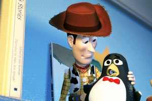 Woody e Wheezy in Toy Story 2