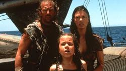 Kevin Costner, Tina Majorino e Jeanne Tripplehorn in Waterworld